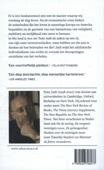 Het land is moe - Tony Judt  - 2