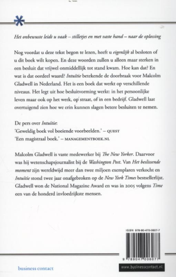 Intuitie - Malcolm Gladwell  - 2